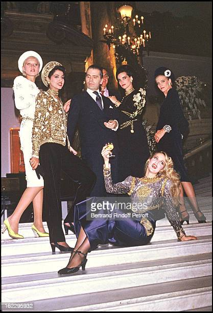 Karl Lagerfeld and his models at 19851986 Fall/Winter Chanel collection in Paris