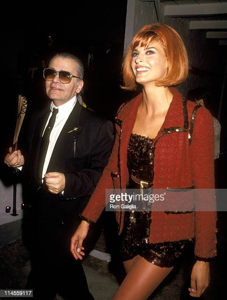 Karl Lagerfeld and Linda Evangelista during 'Off the Street' Citizens' Commitee for Children of New York Presented by Chanel September 12 1991 at...