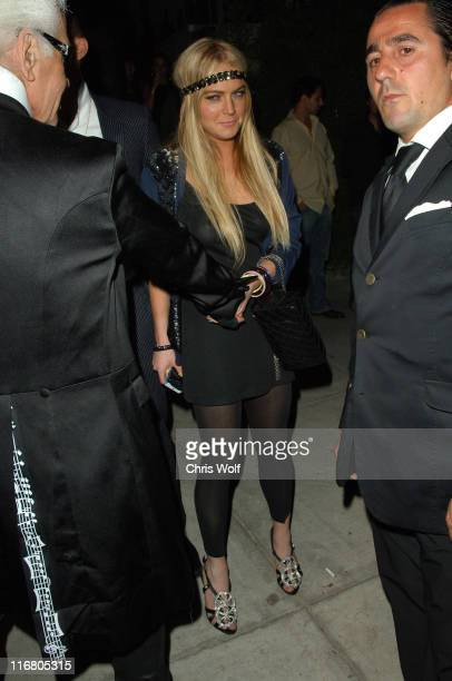 Karl Lagerfeld and Lindsay Lohan during Lindsay Lohan and Karl Lagerfeld Sightings at Koi in West Hollywood May 18 2007 at Koi in West Hollywood...