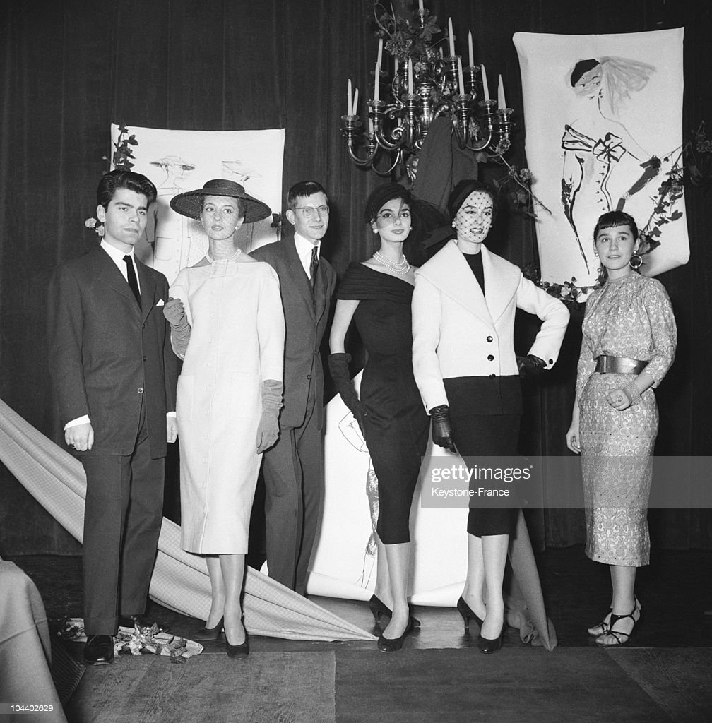 Karl Lagerfeld And Yves Saint Laurent'S Debuts : News Photo