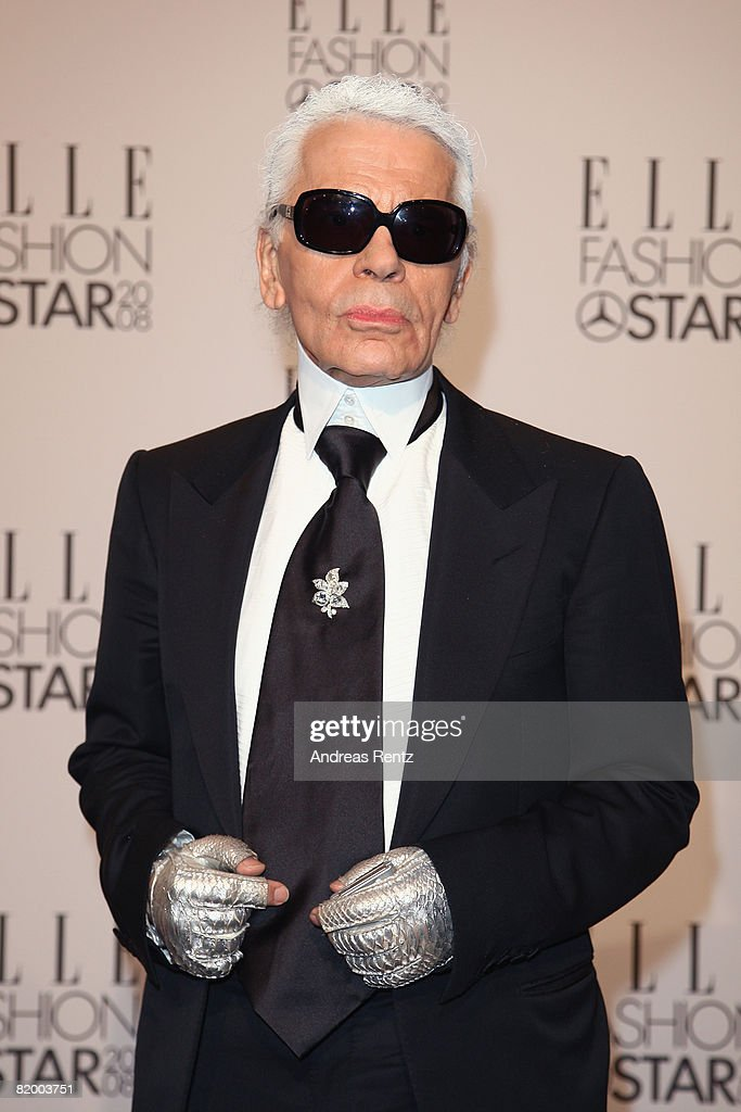 Karl Lagerfeld arrives at the ELLE Fashion Star award ceremony during Mercedes Benz Fashion Week Spring/Summer 2009 at the Tempodrom on July 19, 2008 in Berlin, Germany.