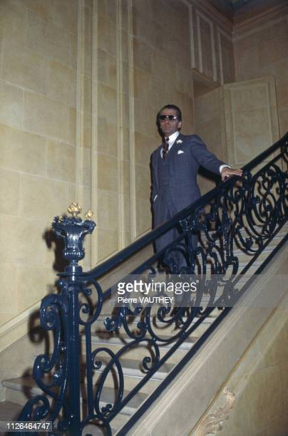 Karl Lagerfeld at home in Paris