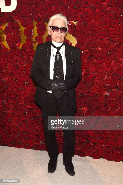 Karl Lagerfeld attends 2017 WWD Honors at The Pierre Hotel on October 24 2017 in New York City