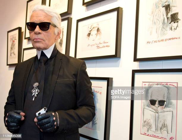 Karl Lagerfeld attends at the Sho Uemura event at Espace Commines in Paris German fashion designer and creative director for the french fashion brand...