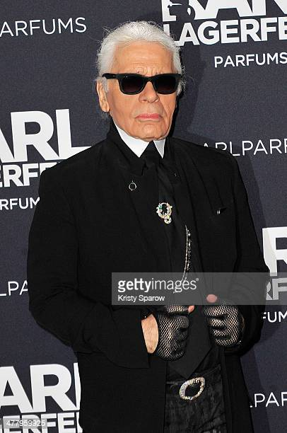 Karl Lagerfeld attends his new perfume launch photocall at Palais Brongniart on March 11 2014 in Paris France