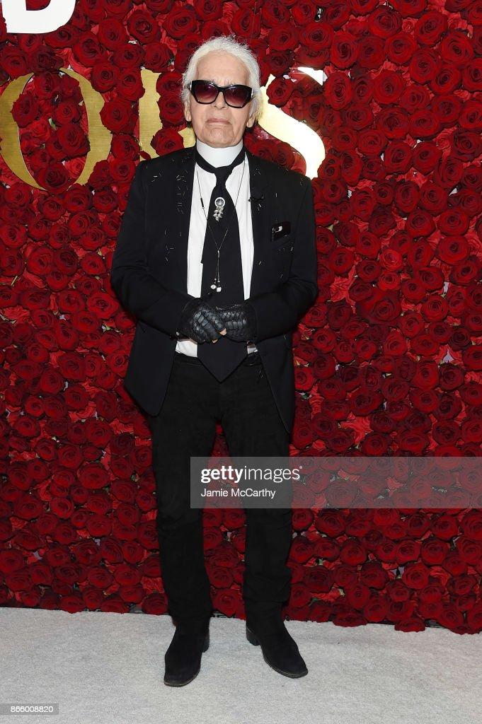 Karl Lagerfeld attends the 2017 WWD Honors at The Pierre Hotel on October 24, 2017 in New York City.