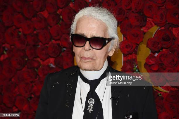 Karl Lagerfeld attends the 2017 WWD Honors at The Pierre Hotel on October 24 2017 in New York City