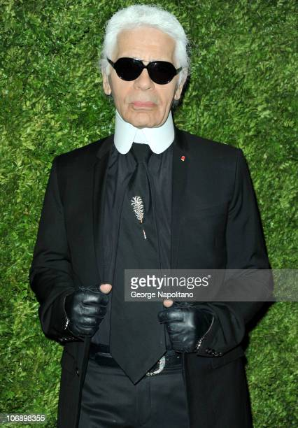 Karl Lagerfeld attends the 7th Annual CFDA/Vogue Fashion Fund awards>> at Skylight SOHO on November 15, 2010 in New York City.