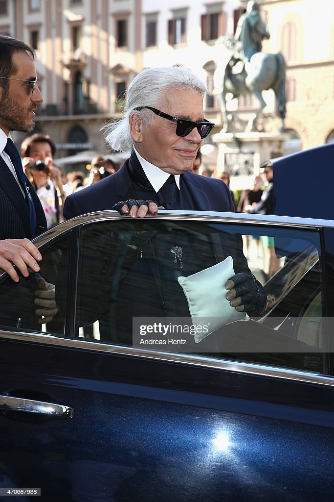 Karl Lagerfeld attends the Conde' Nast International Luxury Conference at Palazzo Vecchio on April 22, 2015 in Florence, Italy.