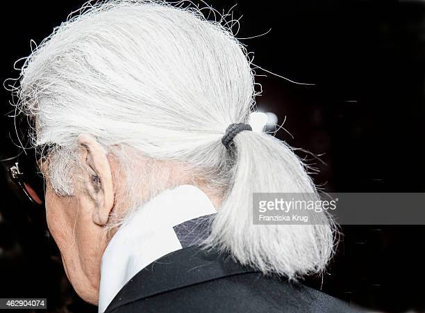 Karl Lagerfeld attends the 'Corsa Karl Und Choupette' Vernissage on February 03, 2015 in Berlin, Germany.