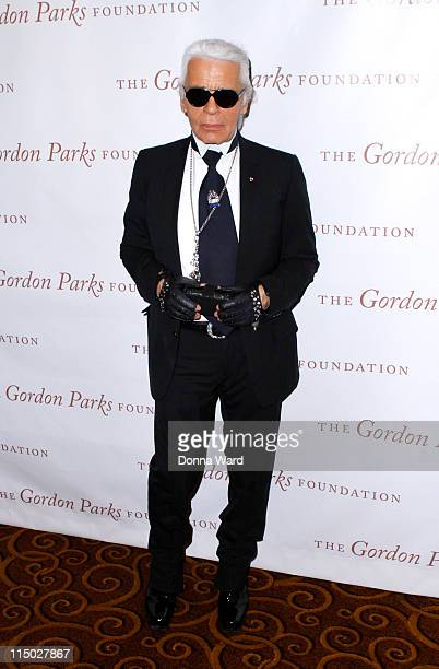Karl Lagerfeld attends the Gordon Parks Foundation awards dinner and auction at Gotham Hall on June 1 2011 in New York City