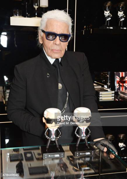 Karl Lagerfeld attends the Karl Lagerfeld European flagship store launch on March 13 2014 in London England