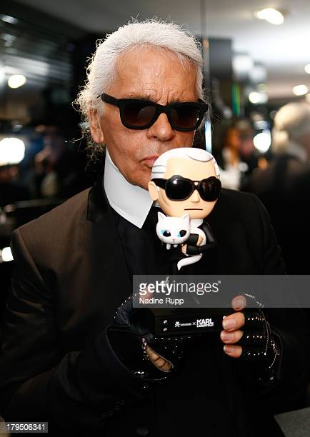 Karl Lagerfeld attends the Karl Lagerfeld store opening on September 4 2013 in Munich Germany