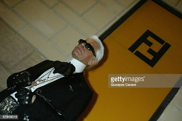 Karl Lagerfeld attends the launch of the Palazzo Fendi Italian Store on May 18 2005 in Rome Italy