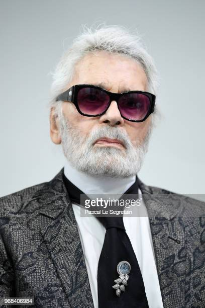 Karl Lagerfeld attends the LVMH Prize 2018 Edition at Fondation Louis Vuitton on June 6 2018 in Paris France