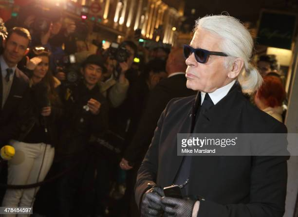 Karl Lagerfeld attends the opening of Karl Lagerfeld Regent Street on March 13 2014 in London England