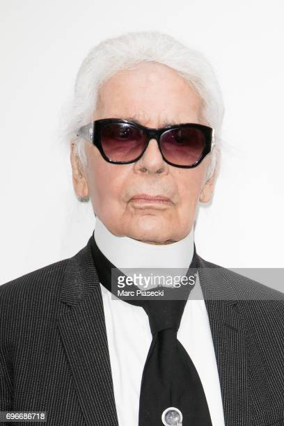 Karl Lagerfeld attends the 'Young Fashion Designer' LVMH Prize 2017 edition at Fondation Louis Vuitton on June 16 2017 in Paris France
