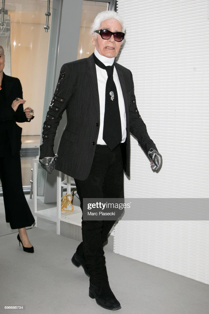 Karl Lagerfeld attends the 'Young Fashion Designer': LVMH Prize 2017 edition at Fondation Louis Vuitton on June 16, 2017 in Paris, France.