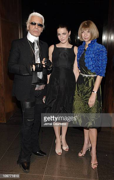 Karl Lagerfeld Bee Shaffer and Anna Wintour during Fendi New York City Flagship Store Opening Inside at Fendi Flagship Store in New York City New...