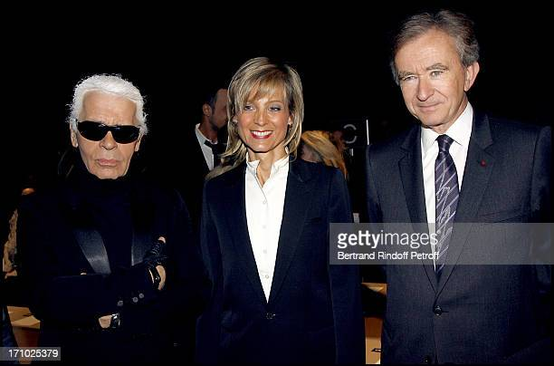 Karl Lagerfeld Bernard and Helene Arnault Dior masculine fashion show fall winter 20072008