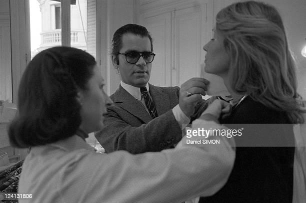 Karl Lagerfeld designer of Chloe In France On April 02 1979