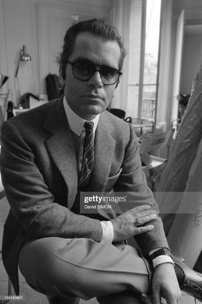 Karl Lagerfeld, Designer Of Chloe In France On April 02, 1979. : News Photo