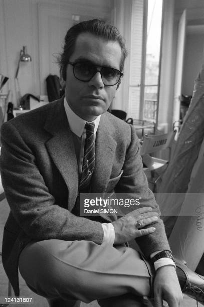 Karl Lagerfeld designer of Chloe In France On April 02 1979