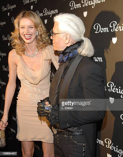 Karl Lagerfeld during Dom Perignon Karl Lagerfeld and Eva Herzigova Host an International Launch Event to Unveil the New Image of Dom Perignon Rose...