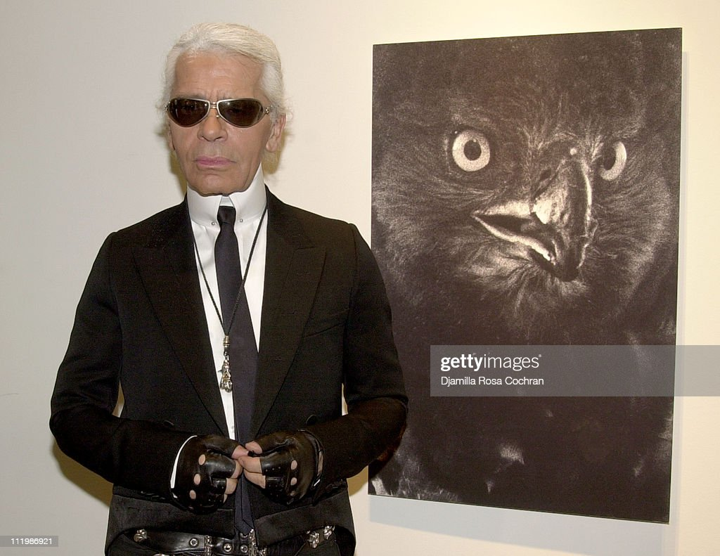 Karl Lagerfeld during Interview and Adidas Host a Party for Lou Reed's Photo Book at Cooper Classics Collection in New York City, New York, United States.