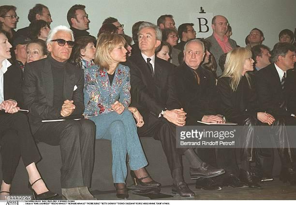 Karl Lagerfeld Helene Arnault Bernard Arnault Pierre Berge Betty Catroux Sidney Toledano man fashion Dior in Paris