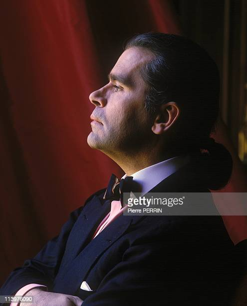 Karl Lagerfeld portraits In Paris France In January 1983