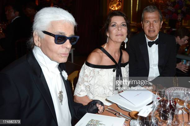 Karl Lagerfeld Princess Caroline of Hanover and Mario Testino attends the dinner at the 'Love Ball' hosted by Natalia Vodianova in support of The...
