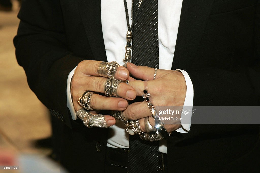 Karl Lagerfeld 's hands at the Chanel Spring/Summer 2005 Fashion Show during Paris Fashion Week on July 7, 2004 in Paris, France.
