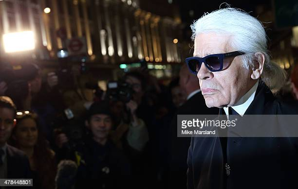 Karl Lagerfeldattends the opening of Karl Lagerfeld Regent Street on March 13 2014 in London England