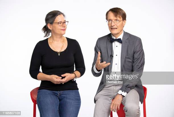 September 02: Karl Lauterbach and Nina Scheer are applying together for SPD party chairmanship. September 02, 2019 in Berlin, Germany.