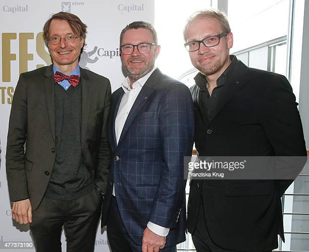 Karl Lauterbach Christian Krug and Jens Koenig attend the STERN And CAPITAL Summer Party on June 16 2015 in Berlin Germany