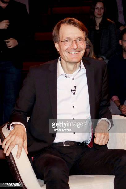 Karl Lauterbach during the Markus Lanz Talkshow on October 2, 2019 in Hamburg, Germany.