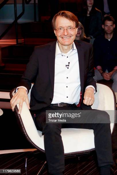Karl Lauterbach during the Markus Lanz Talkshow on October 2 2019 in Hamburg Germany