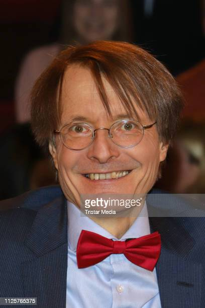 Karl Lauterbach during the 'Markus Lanz' TV show on February 18 2019 in Hamburg Germany