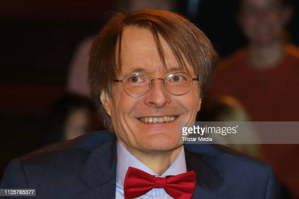 Karl Lauterbach during the 'Markus Lanz' TV show on February 18, 2019 in Hamburg, Germany.