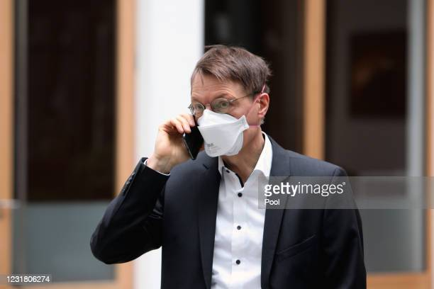 Karl Lauterbach, health policy expert of the German Social Democrats attends a press conference the day after the European Medicines Agency announced...
