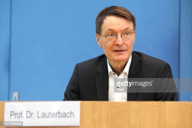 Karl Lauterbach, health policy expert of the German Social Democrats , speaks to the media the day after the European Medicines Agency announced that...