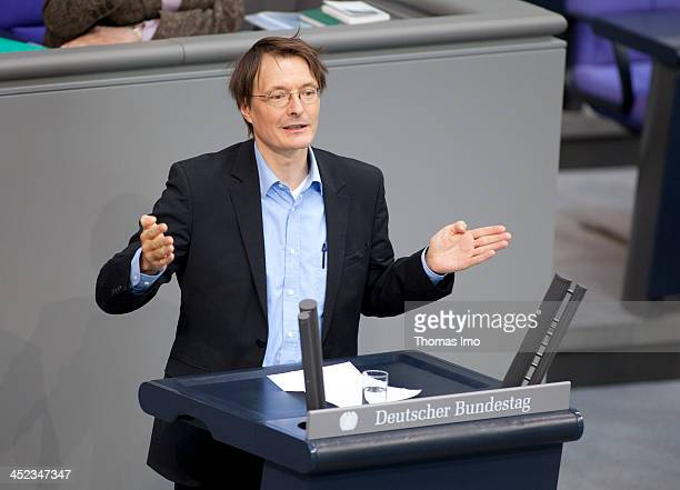 Karl Lauterbach member of the Social Democratic Party SPD holding a speech at the German Bundestag on March 21 in Berlin Germany Karl Lauterbach