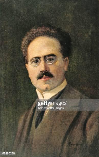 Karl Liebknecht , social democratic politician. Around 1910. Postcard. Colour print. [Karl Liebknecht , sozialdemokratischer Politiker. Um 1910....