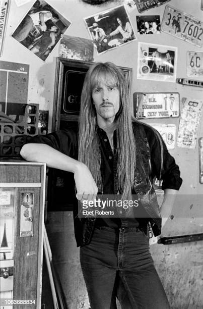 Karl Logan of Manowar at Hogs Heifers bar in New York City on September 191997