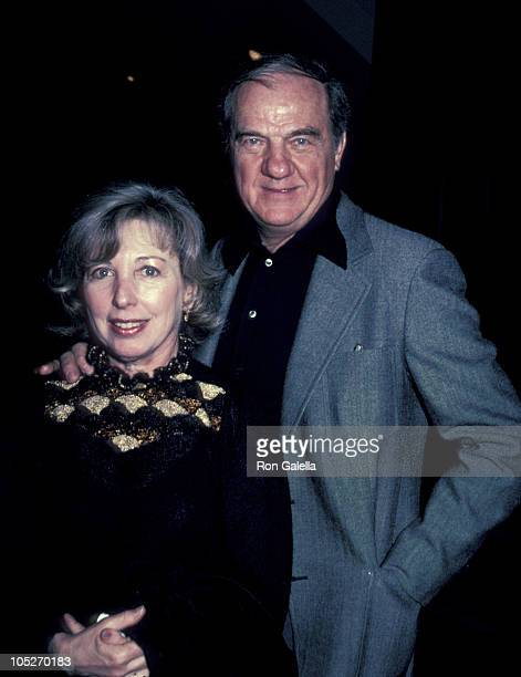 Karl Malden and Mona Graham during Screening of Genocide at Academy Theater in Beverly Hills California United States
