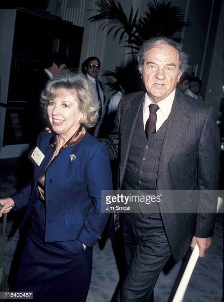 Karl Malden and Mona Graham during The 58th Annual Academy Awards Nominees Luncheon at Beverly Hilton Hotel in Beverly Hills California United States