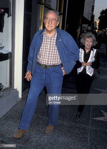 Karl Malden and Mona Graham during The Will Rogers Follies Opening Night July 14 1993 at Pantages Theater in Hollywood California United States
