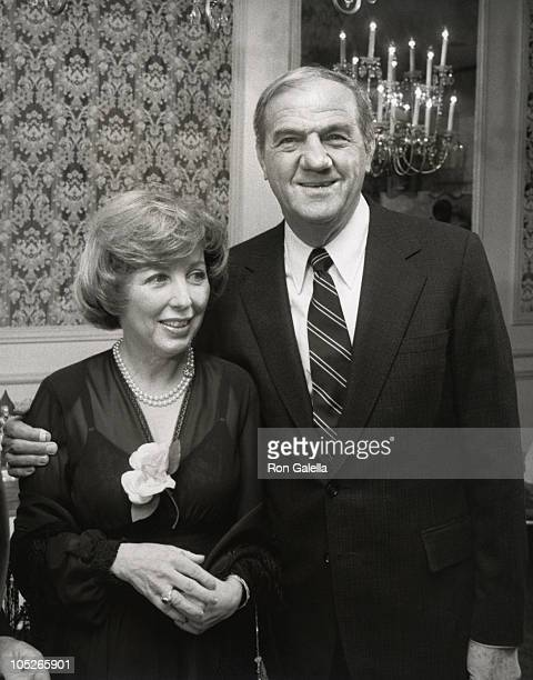 Karl Malden and Mona Graham during The World of Racing And Entertainment Honors Marvin Leroy at Beverly Wilshire Hotel in Beverly Hills California...