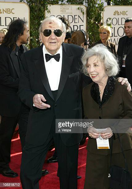 Karl Malden and wife Mona during The 61st Annual Golden Globe Awards Arrivals at The Beverly Hilton in Beverly Hills California United States